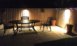 Patio lights uk nice outdoor patio lights patio lights outdoor exterior lighting electricians guildford power to people local workwithnaturefo
